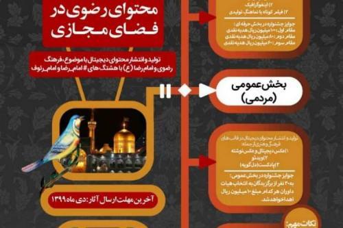 مهلت ارسال به هشتمین جشنواره رسانه های دیجیتال رضوی تمدید شد