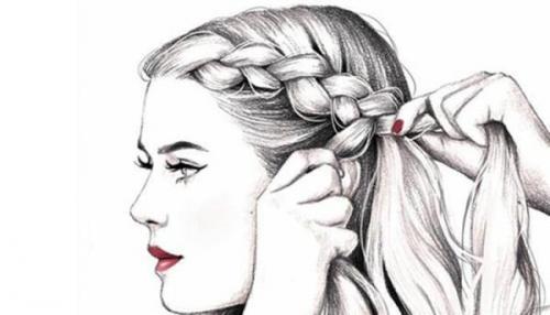 شعر بافتن مو ؛ متن، جمله و شعر درباره موی بافته شده